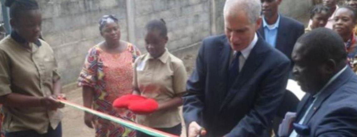 Ambassador Todd Haskell visits a primary and secondary school in Brazzaville South
